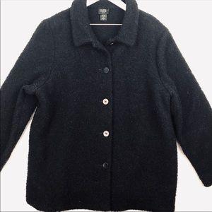 Eileen Fisher Women Wool Button Coat